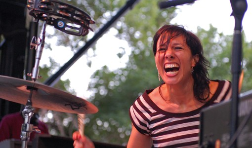 Kim Schifino of Matt and Kim.