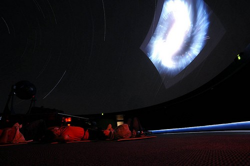 Kids at the McDonnell Planetarium, learning stuff about the night sky. - IMAGE SOURCE