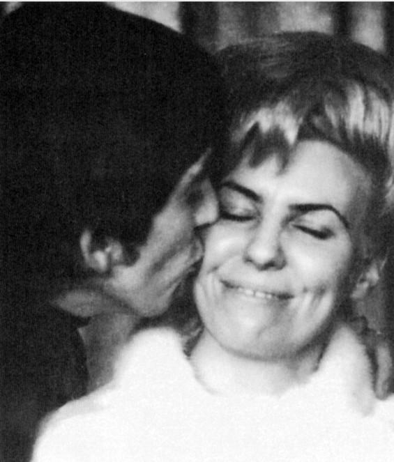 George and Louise backstage at The Ed Sullivan Show in 1963. - COURTESY ACCLAIM PRESS