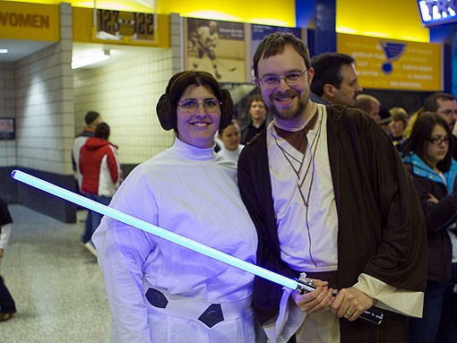 Grace and Ryan Cornett of Wentzville came out to enjoy their first Star Wars concert. See more photos from last night. - PHOTO: STEW SMITH