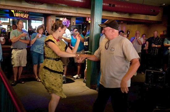Miss Jubilee and a fan dance during the Big Muddy Blues Festival in 2012. - BRIAN HEFFERNAN