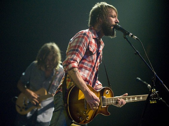 Band of Horses. See more phtoos from Band of Horses' set at the Scottrade here. - PHOTO: JON GITCHOFF