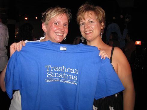 Two happy Trashcans fans! - ANNIE ZALESKI