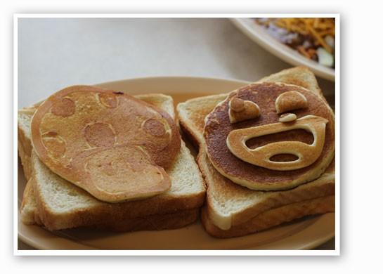 Super Mario pancakes at Courtesy Diner?! - NANCY STILES