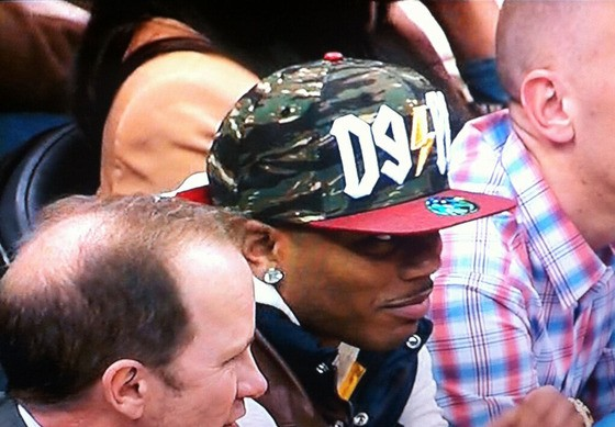 Nelly, at a Timberwolves game - THERON THOMPSON