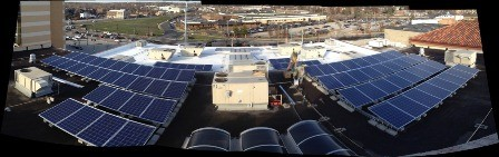 The Pageant's management recently installed 70 solar panels on the Delmar Boulevard venue's roof. - THE PAGEANT'S TUMBLR PAGE