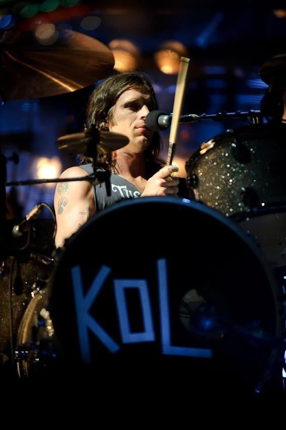 Kings of Leon drummer Nathan Followill. More photos. - TODD OWYOUNG