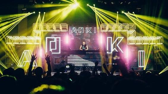 Steve Aoki live in Austin. - CESAR SEBASTIAN
