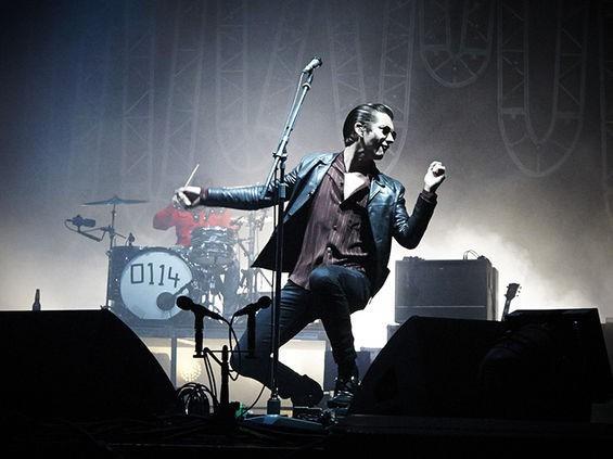 Alex Turner of Arctic Monkeys. See more photos here. - STEVE TRUESDELL