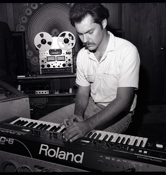 Walter Whitney, working the Roland. - VIA BANDCAMP