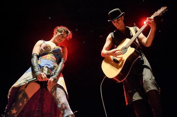 Dresden Dolls Amanda Palmer and Brian Viglione at the Pageant - TODD OWYOUNG