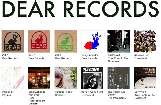 This is what it looks like at the Dear Records Bandcamp page. Click the picture to check these releases out.