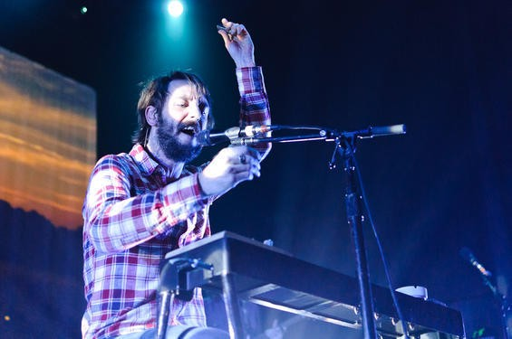 Ben Bridwell of Band of Horses at the Pageant. - JASON STOFF