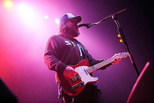 Andy Hull of Manchester Orchestra last night at the Pageant. See more photos from last night's show. - PHOTO: TODD OWYOUNG