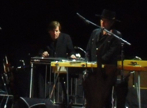 Bob Dylan and Donnie Herron at the end of the night