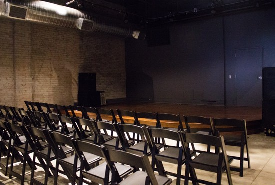 The Stage at KDHX has completely uninterrupted sight lines. It will serve as a community gathering place and is also available to rent.