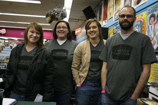 The IWTAS Crew at Record Store Day 2011. - CHRISSY WILMES