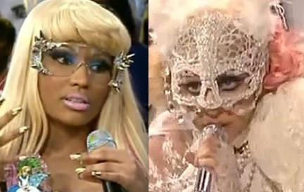 Minaj and Gaga: Fashion-forward queens of pop weirdness. - IMAGE VIA