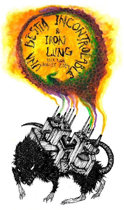 Iron Lung/Una Besita Uncontrolable tour flyer.