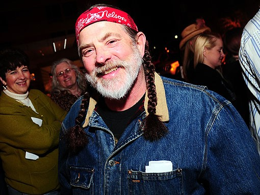 One of many fans last night that looked like Willie Nelson. See 29 more look-a-likes, right here. - PHOTO: EGAN O'KEEFE