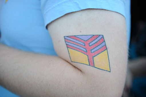 A Yeah Yeah Yeahs tattoo. More photos here. - PHOTO: TODD OWYOUNG