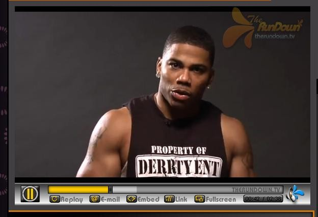 A screencap of the trailer for Nelly's workout DVD. - THERUNDOWN.TV