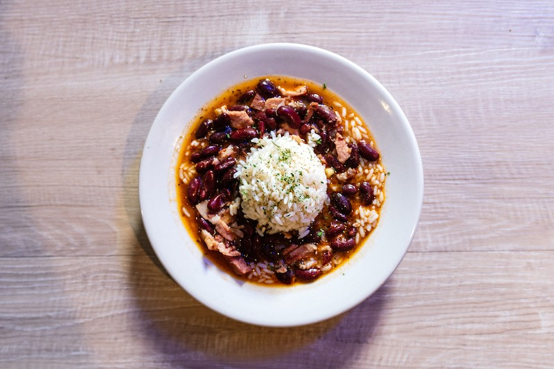 Red beans and rice are a Johnny's specialty. - SPENCER PERNIKOFF