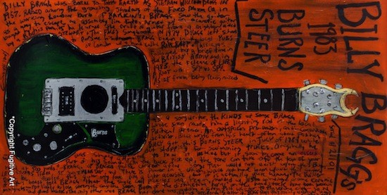 Billy Bragg's 1983 Burns Steer - COURTESY OF FUGITIVE ART