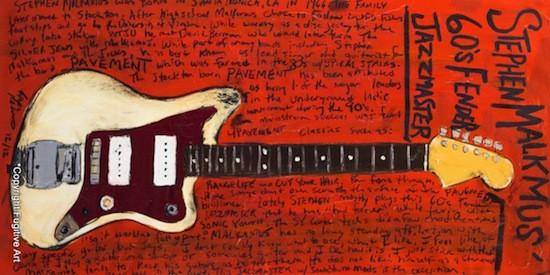 Stephen Malkmus' '60s Fender Jazzmaster - COURTESY OF FUGITIVE ART