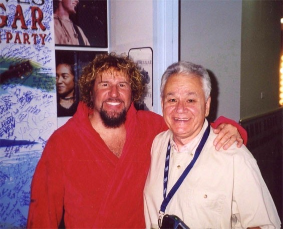 Sammy Hagar and Dick Richmond at Verizon Wireless Amphitheater - DICK RICHMOND