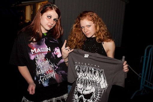 Marilyn Manson fans. - PHOTO: KENNY WILLIAMSON