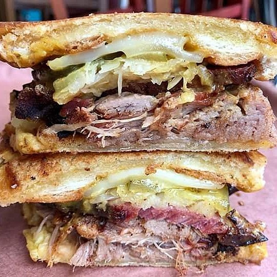 "A previous version of the ""Cuban Reuben,"" served at Sugarfire Smoke House in February. - VIA SUGARFIRE SMOKEHOUSE DESKGRAM"