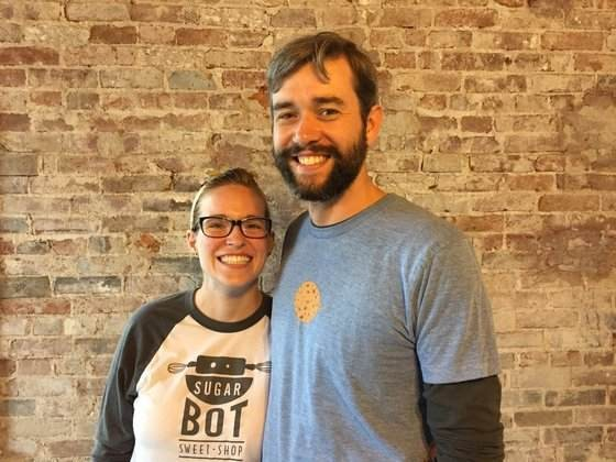 The co-owners of SugarBot, Jackie Lynch and Mark Huebbe. - PHOTO BY KEVIN KORINEK