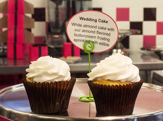 The wedding-cake cupcakes are typically one of the first to sell out.
