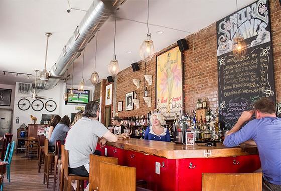 The bar at Yaqui's.