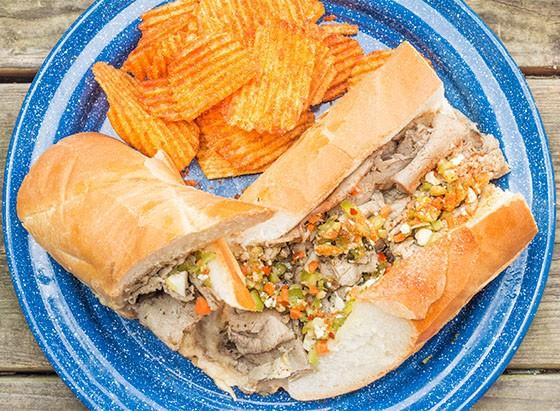 """The """"Little Dipper"""" Italian beef sandwich. - MABEL SUEN"""