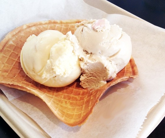 Ice Cream on a Waffle Plate at Baileys' Range | Stacy Hu