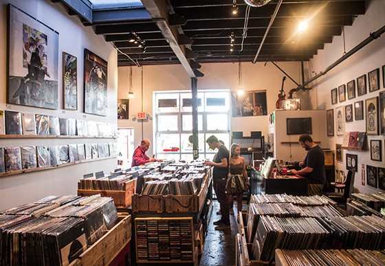 Inside the Music Record Shop.