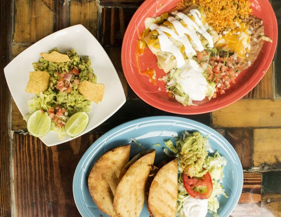 A sampling of El Burro Loco's Mexican fare. - MABEL SUEN