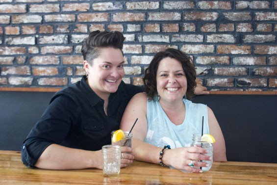 """Kristen Goodman (left) and Elizabeth """"Lilly"""" Fuchs, co-owners of Lilly's Music and Social House. - PHOTO BY SARAH FENSKE"""