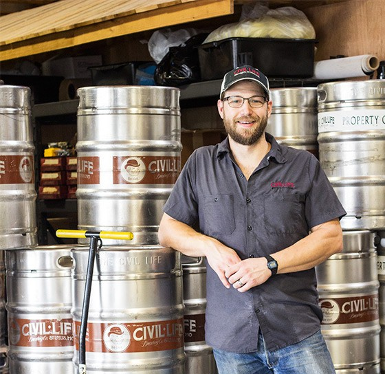 Brandon Stern of The Civil Life Brewing Company. | Mabel Suen