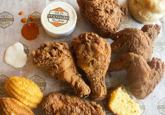The fried chicken at Old Standard.   Mabel Suen