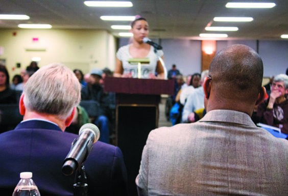 Danielle Polk addresses the commission. - DANNY WICENTOWSKI