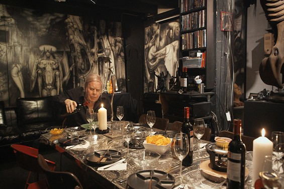 The late H.R. Giger at home.