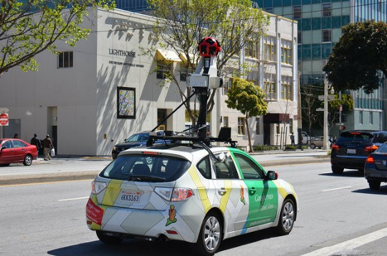 A Google Streetview vehicle at work in San Francisco. - PHOTO COURTESY OF FLICKR/STEVE RHODES