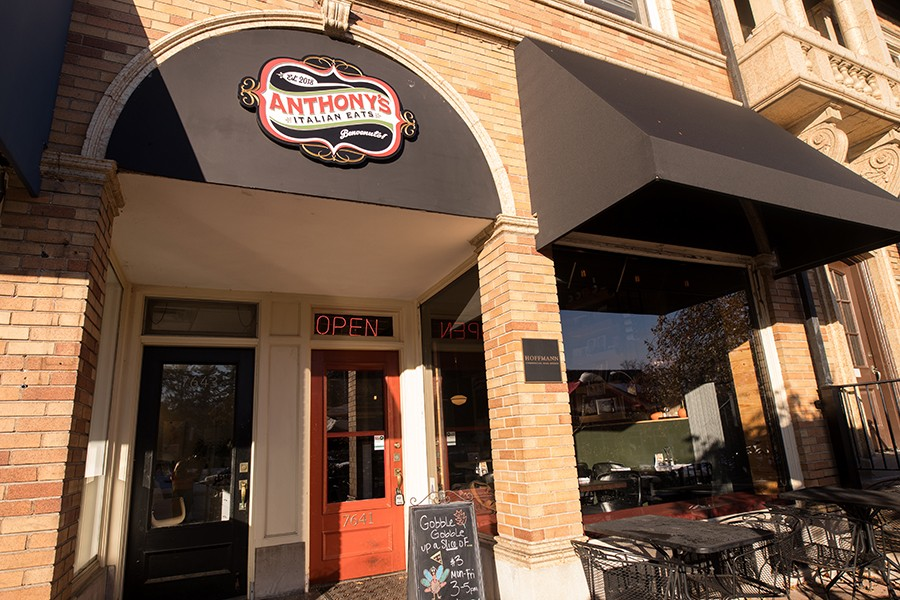 Anthony's Italian Eats offers patio seating in warm weather and blankets for colder days. - MABEL SUEN