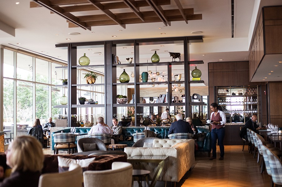 The bar at Cinder House was recently recognized as the most beautiful in Missouri by Architectural Digest. - MABEL SUEN