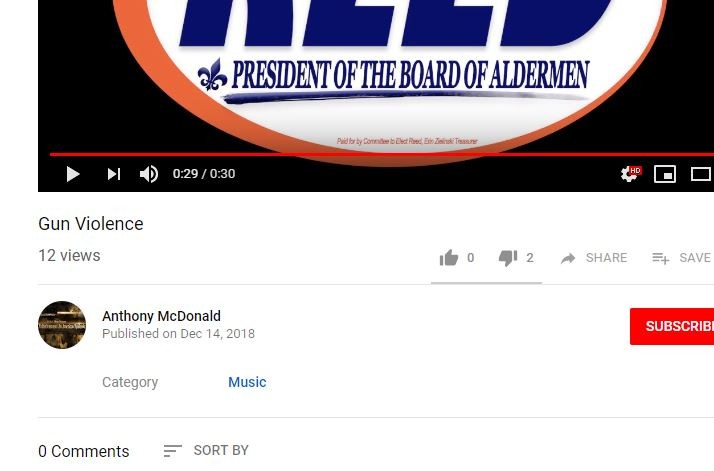 "A now-deleted ""mock video"" ad that presented itself as an official Reed campaign video. - SCREENSHOT VIA YOUTUBE"