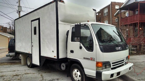 The truck that Shower to the People will use as a portable shower truck to provide showers to the homeless in St. Louis. - COURTESY OF SHOWER TO THE PEOPLE