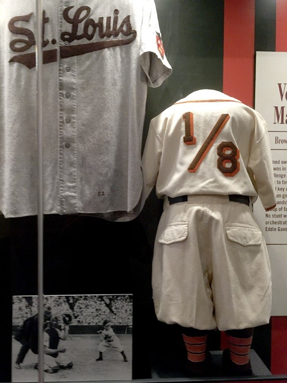 Eddie Gaedel's spot in the Cardinals Hall of Fame. - KELLY GLUECK